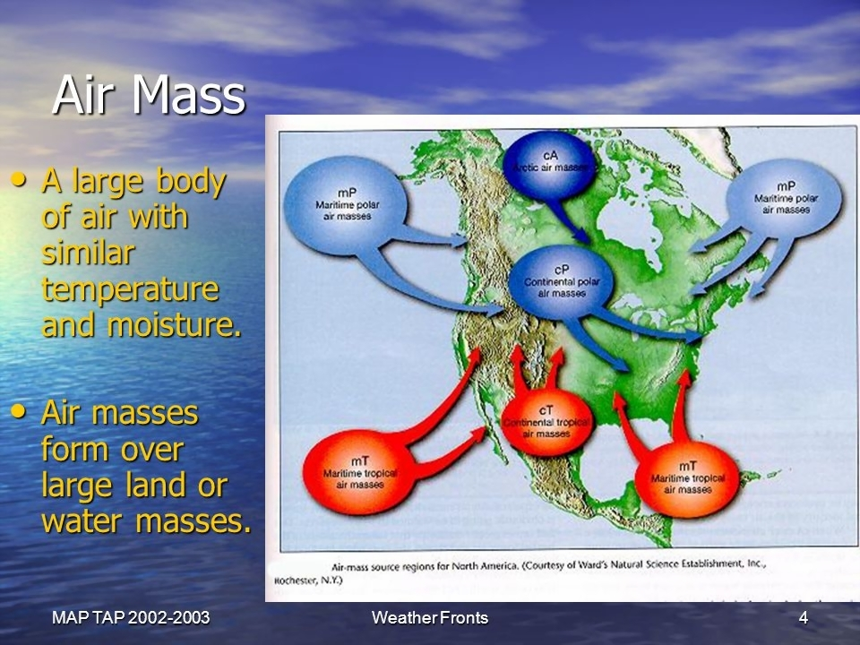 Teacher Page Weather Fronts Science 8th Grade    ppt video online     MAP TAP Weather Fronts  Dew Point and Cloud Formation  4 Air