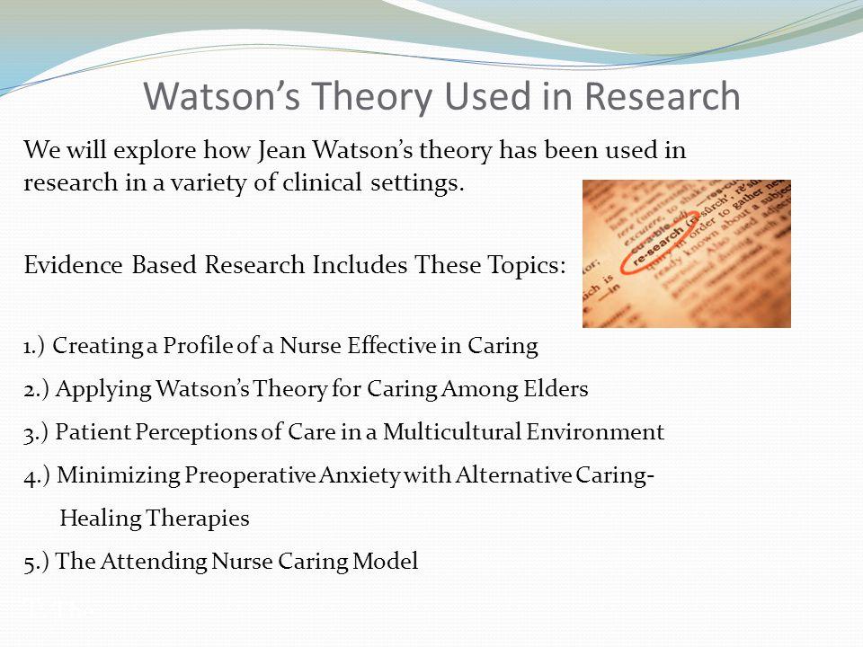 theory of caring jean watson