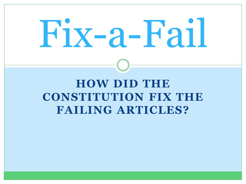 what did the articles of confederation fail