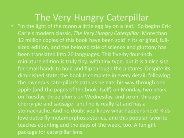 the very hungry caterpillar text # 60