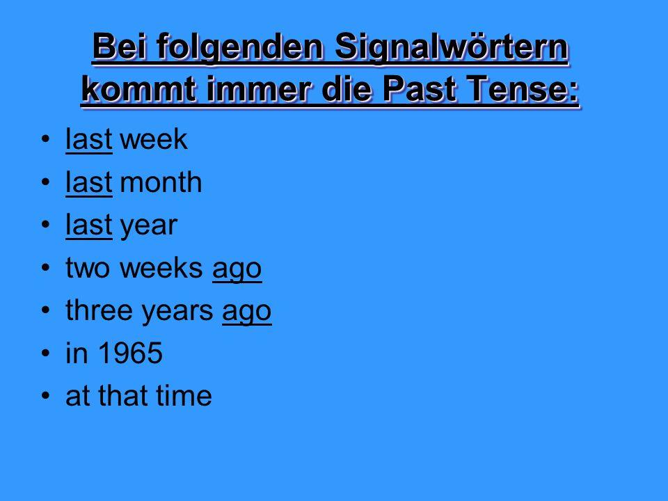 Past Tense And Past Participle