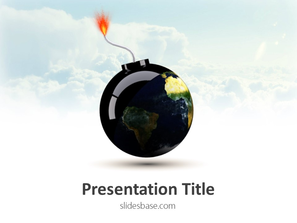 Free PowerPoint Templates   Slidesbase World Bomb PowerPoint Template