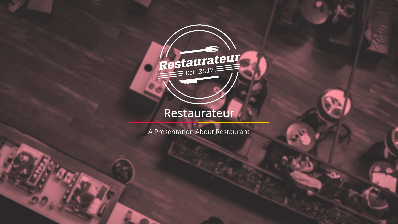 Fine Dining Food Premium Powerpoint Template Slidestore