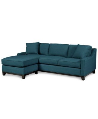 Blue Couches and Sofas   Macy s Keegan 90  2 Piece Fabric Sectional Sofa