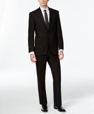 Kenneth Cole Reaction Black Slim Fit Suit Suits