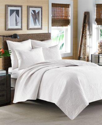 Tommy Bahama Home Nassau White King Quilt Quilts