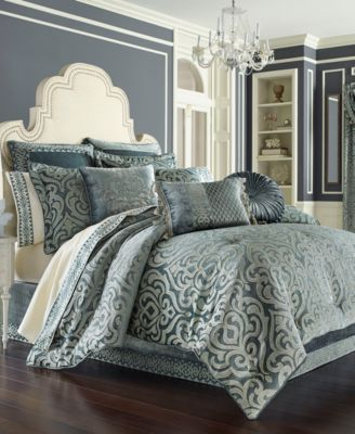 J Queen New York Sicily Teal Comforter Sets Bedding