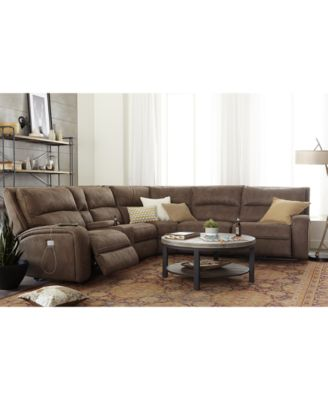 Groovy Homestretch Power Reclining Sectional Sofa With Usb Charging Inzonedesignstudio Interior Chair Design Inzonedesignstudiocom
