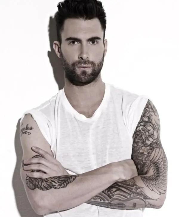 25 Sexy Adam Levine Tattoos - SloDive