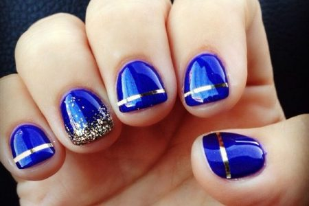 royal blue and gold nails » Path Decorations Pictures | Full Path ...