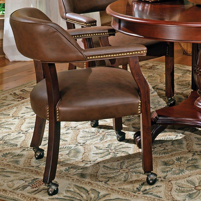 Dining Room Chairs Arms And Wheels