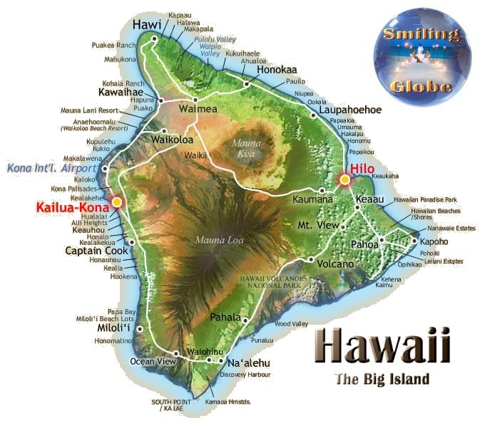 Big Island Hawaii Elevation Map