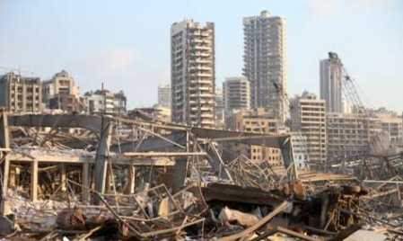 A huge Blast In Beirut  Leaves Atleast 70 People Dead And  More Than 3,000  Injured