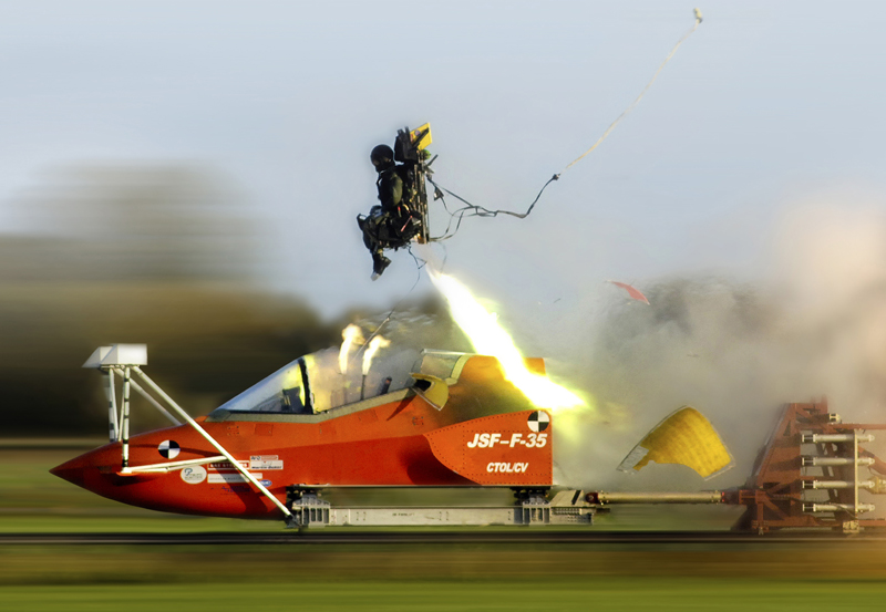 Ejection Rocket Sled Seat