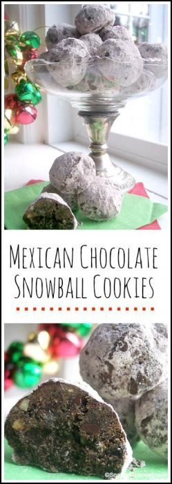 Mexican Chocolate Snowball Cookies - easy snowball cookie recipe perfect for the holidays, Christmas, or even Cinco de Mayo!