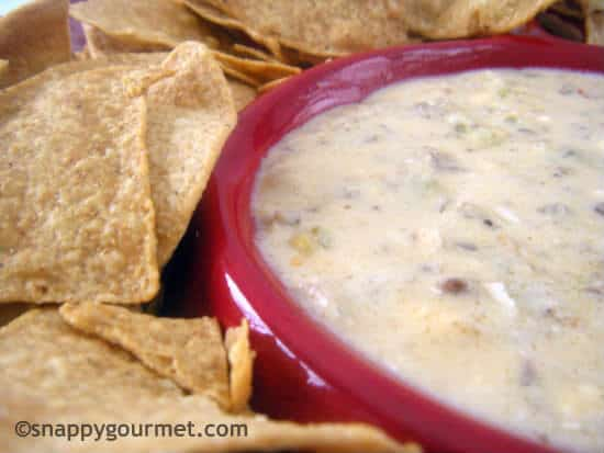 Spicy Sausage & Beer Cheese Dip (slow cooker) | snappygourmet.com