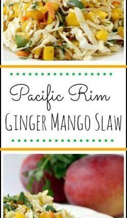 Pacific Rim Ginger Mango Slaw - easy homemade coleslaw! SnappyGourmet.com