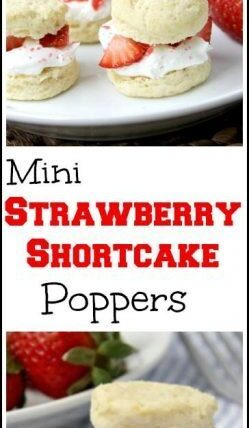 Strawberry Shortcake Poppers - homemade mini strawberry shortcakes recipe with SECRET ingredient! SnappyGourmet.com