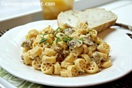 Creamy Pumpkin Sage Sausage Pasta Recipe   SnappyGourmet.com