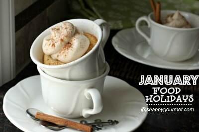 Food Holidays & Recipes (January)   SnappyGourmet.com