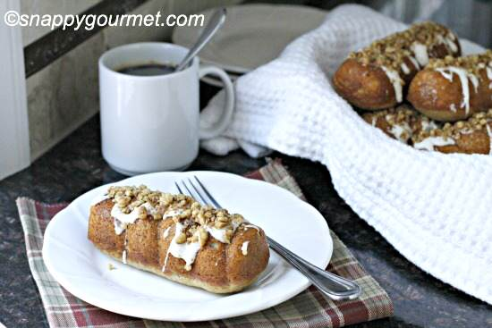 Banana Bread Doughnut Twists Recipe   SnappyGourmet.com