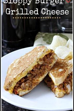 Sloppy Burger Grilled Cheese Recipe - easy sandwich recipe that the kids will love! SnappyGourmet.com
