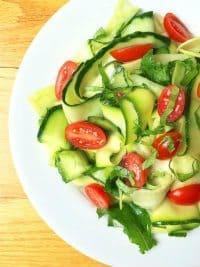 70+ Best Zucchini Recipes (Zucchini Cucumber Ribbon Salad Recipe)   SnappyGourmet.com