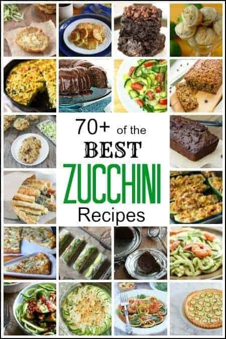 Best Zucchini Recipes - 70+ of the best zucchini recipes inclucing a recipe for zoodles, zucchini breads, muffins, fries, brownies, cakes, cookies, casserole, and more!   SnappyGourmet.com