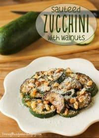 70+ Best Zucchini Recipes (Sauteed Zucchini with Walnuts Recipe)   SnappyGourmet.com