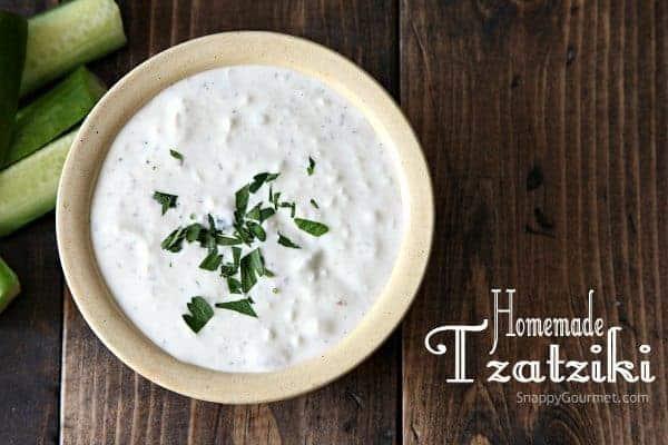 Homemade Tzatziki Recipe - easy Greek dip or sauce! SnappyGourmet.com