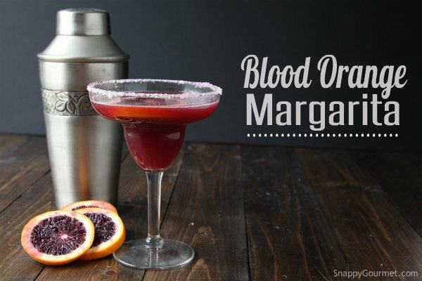 Blood Orange Margarita recipe - easy refreshing cocktail   SnappyGourmet.com