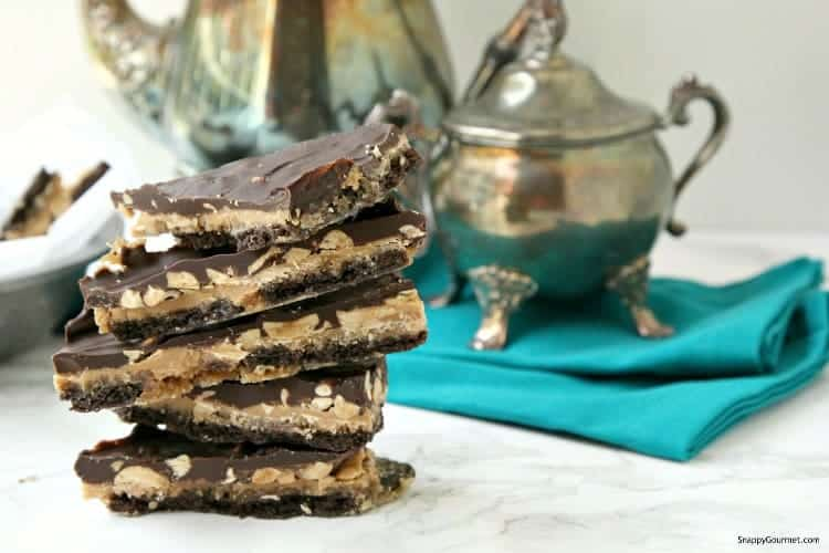 homemade crack bar candy stacked on counter