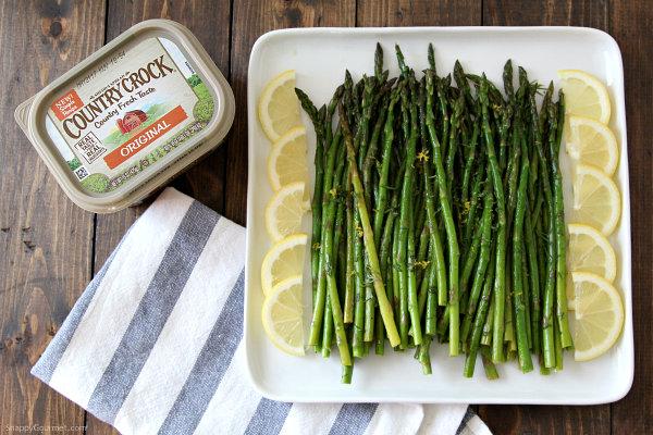 Lemon Dill Asparagus, an easy vegetable side dish recipe! SnappyGourmet.com
