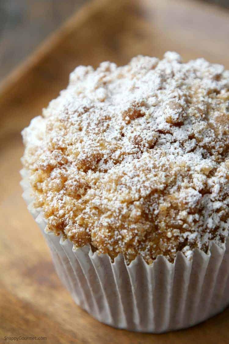 closeup of panera pumpkin muffin