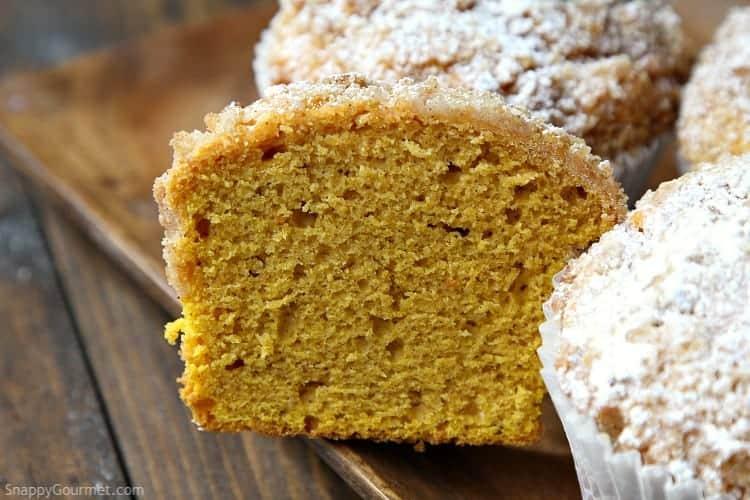 inside of pumpkin muffin