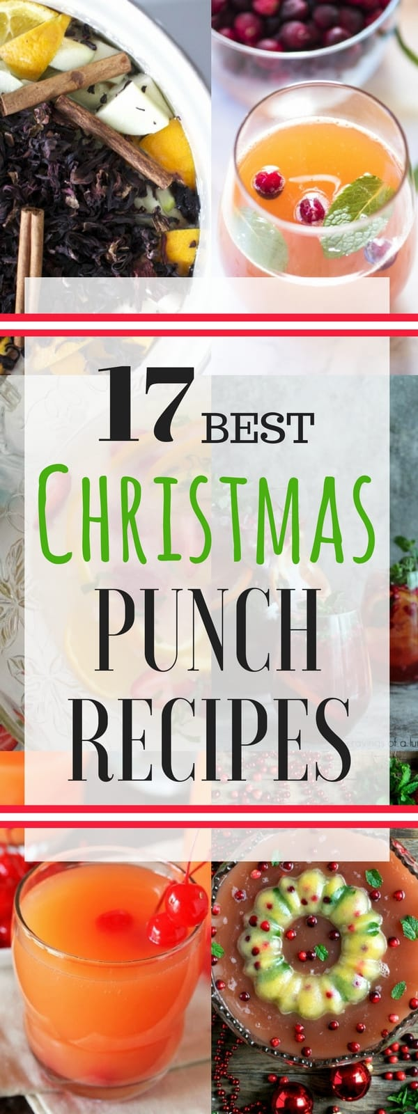 17 Best Christmas Punch Recipes - great list of party punch recipes for the holidays! SnappyGourmet.com