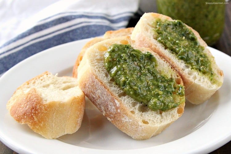 Spinach Basil Pesto Recipe - how to make homemade pesto in your blender or vitatmix