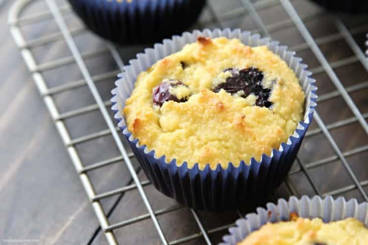 Almond Flour Blueberry Muffins Recipe - easy gluten free almond flour muffins