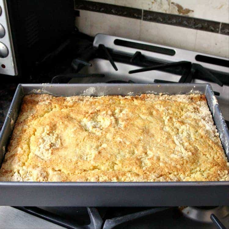 Pumpkin Dump Cake fresh out of the oven