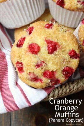 Cranberry Orange Muffins - copycat recipe for Panera Cranberry Orange Muffins