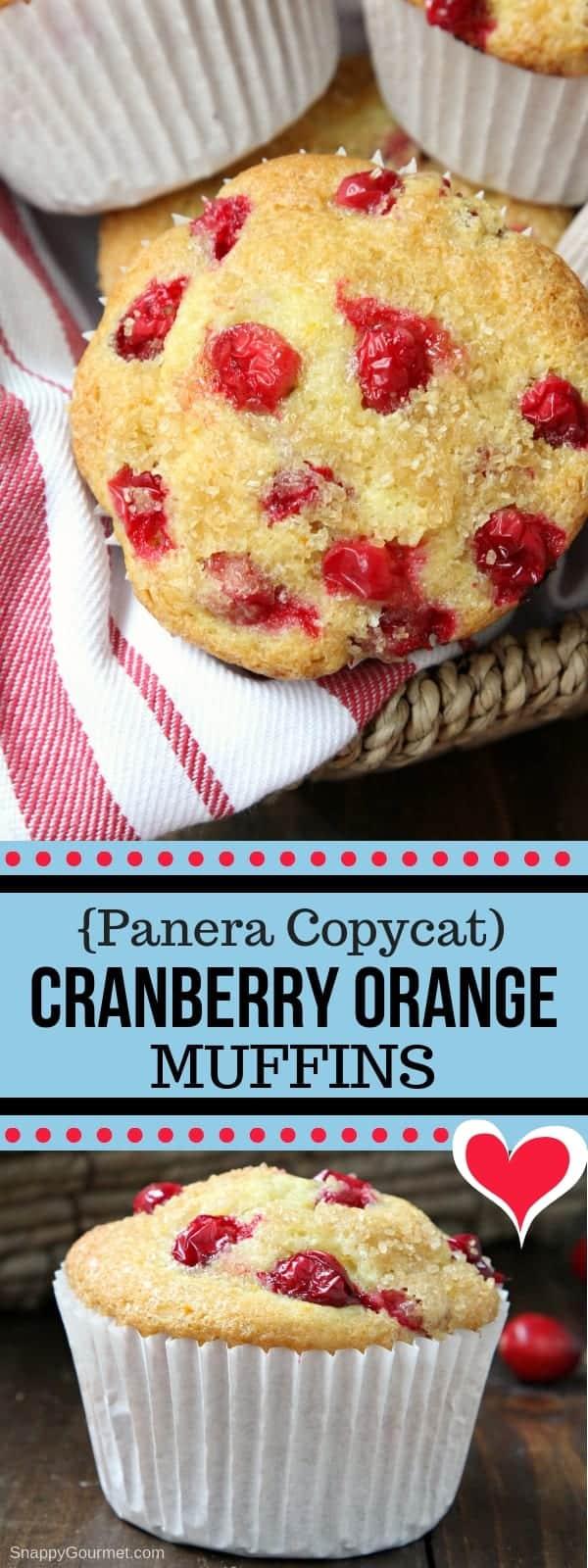 Orange Cranberry Muffins - Jumbo Copycat Panera Orange Cranberry Muffins recipe
