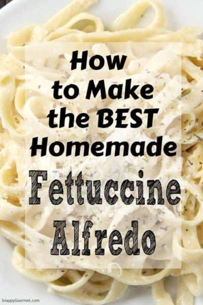 fettuccine alfredo on plate