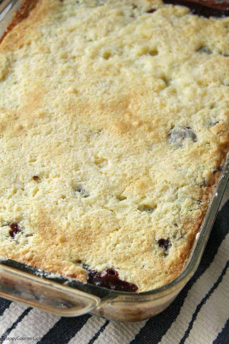 Cherry Dump Cake in pan