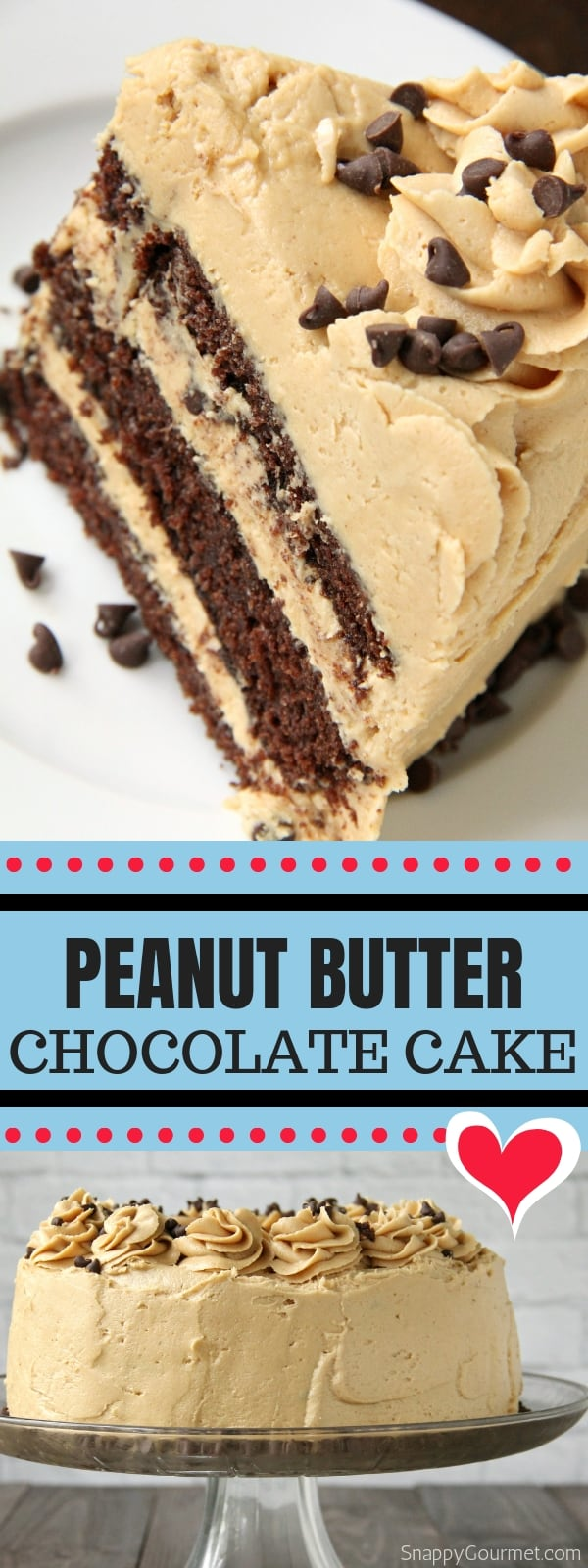 Peanut Butter Chocolate Cake collage
