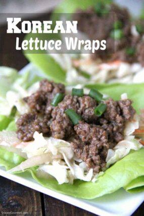 Korean Lettuce Wraps clostup