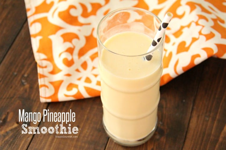 Mango Pineapple Smoothie in glass