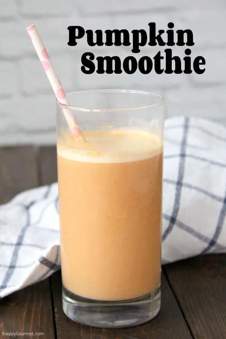 Pumpkin Smoothie in a glass