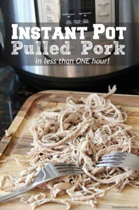 Instant Pot with pulled pork