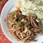 Korean BBQ pulled pork on plate