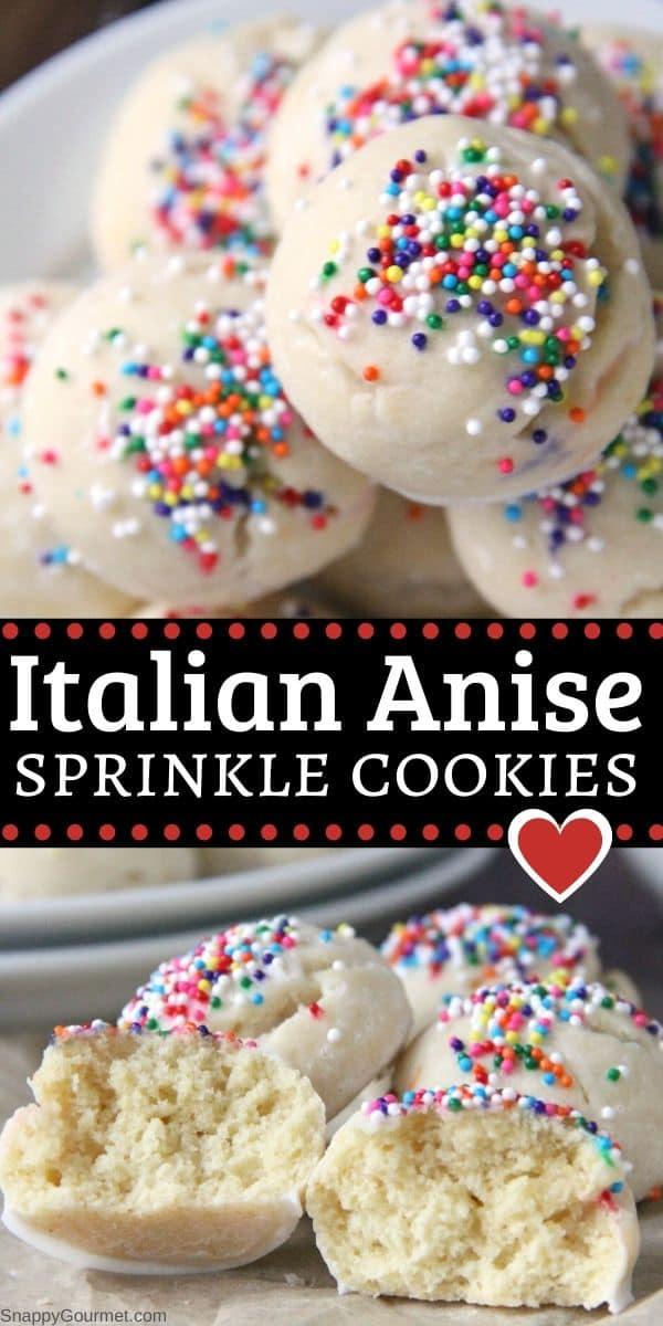 Italian anise sprinkle cookies collage